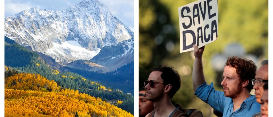DACA students at Colorado Mountain College will not have to pay tuition up front. Left, SHUTTERSTOCK/Mavrick/ Right, REUTERS/ Kyle Grillot