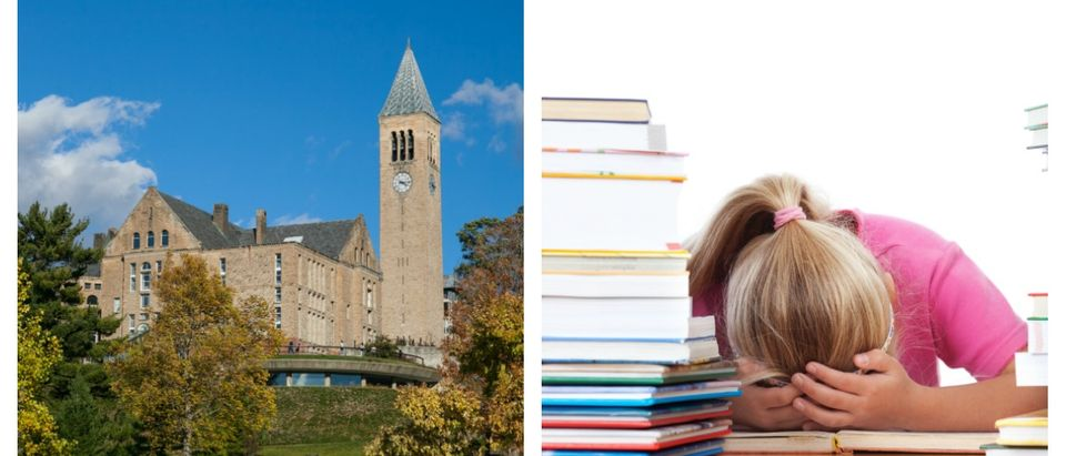 A concerned student at Cornell claimed that student leaders were given a packet surrounding privilege and oppression during orientation week. Left, SHUTTERSTOCK/Lewis Liu/ Right, SHUTTERSTOCK/Ramona Heim