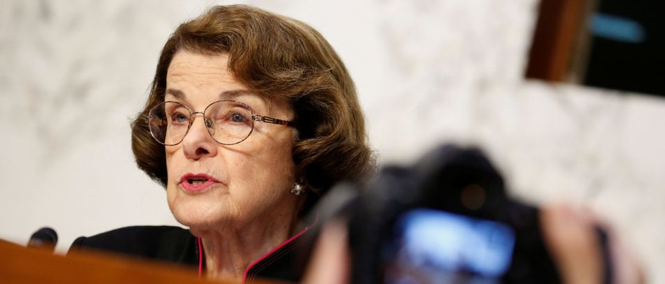 Senator Feinstein questions FBI Director Wray and DOJ Inspector General Horowitz during Senate Judiciary Committee hearing on Capitol Hill in Washington