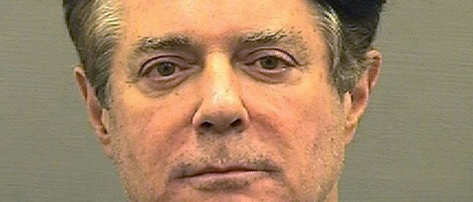FILE PHOTO: Booking photo of former Trump campaign manager Paul Manafort in Alexandria