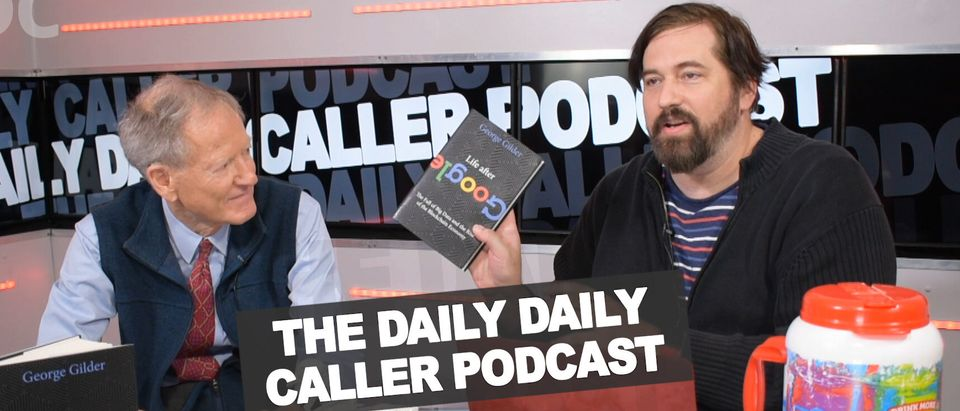 Economist George Gilder speaks with The Daily Daily Caller Podcast host Derek Hunter. (Photo: The Daily Caller Video)