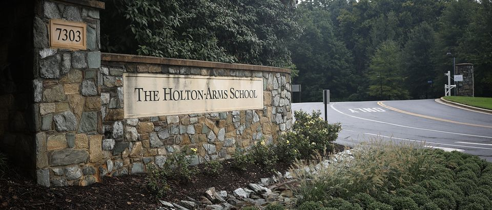 BETHESDA, MARYLAND - SEPTEMBER 18: The entrance to the Holton Arms School is shown on September 18, 2018 in Bethesda, Maryland. Christine Blasey Ford, who attended the all-girls prep school, has accused Supreme Court nominee Brett Kavanaugh, who attended the all-boys Georgetown Preparatory School, of assaulting her when the two were students. (Photo by Win McNamee/Getty Images)