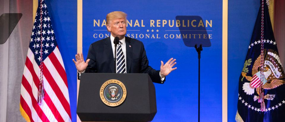 President Trump Addresses The National Republican Congressional Committee Dinner