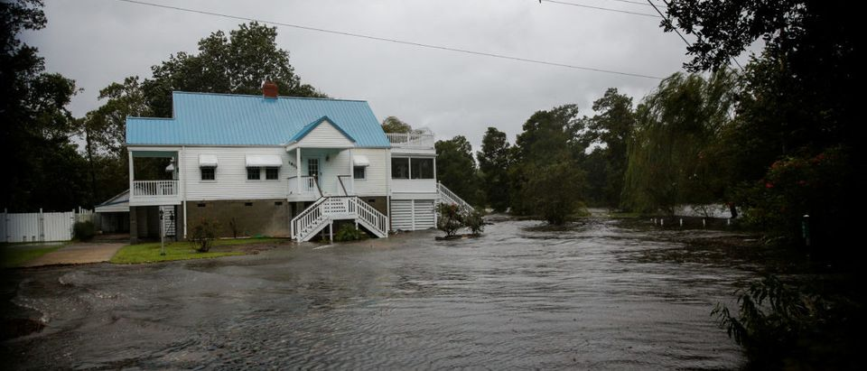 Water from Neuse River floods houses as Hurricane Florence comes ashore in New Bern