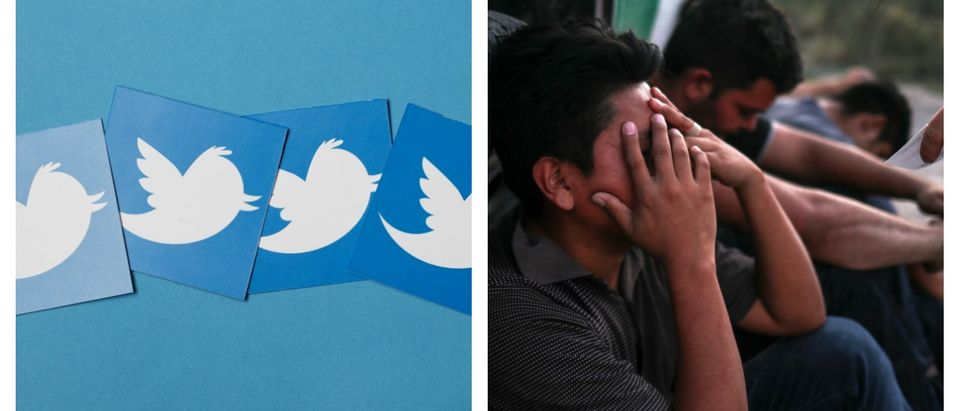 Twitter would not allow the Center for Immigration Studies to promote a tweet involving the term illegal alien. Left, SHUTTERSTOCK/ Ink Drop/ Right, REUTERS/Adrees Latif