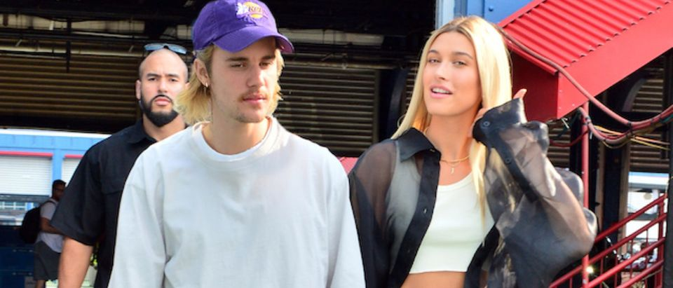 Singer Justin Bieber and model Hailey Baldwin hold hands as they head to the John Elliot fashion show at Chelsea Piers in New York, NY. Pictured: Justin Bieber,Hailey Baldwin Picture by: SplashNews.com Splash News and Pictures