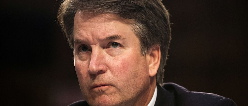 FILE PHOTO: U.S. Supreme Court nominee Brett Kavanaugh testifies in Washington