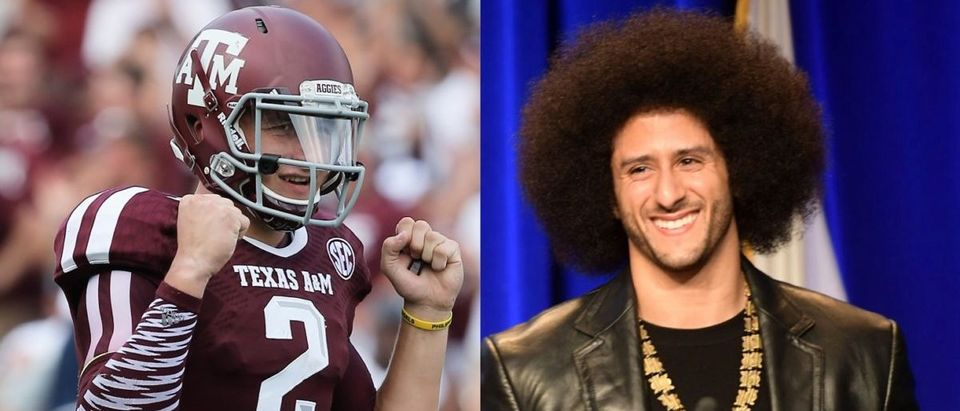 Colin Kaepernick, Johnny Manziel (Credit: Getty Images)