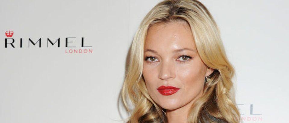 """Rimmel celebrates its 10 year partnership with original London girl Kate Moss, who today launches her personally designed lipstick range for the brand """"Kate Moss Lasting Finish Lipstick Collection"""" at Claridges Hotel on September 15, 2011 in London, England. (Photo by Dave M. Benett/Getty Images for Rimmel)"""
