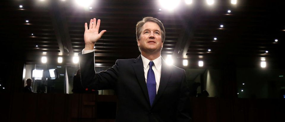 U.S. Supreme Court nominee Brett Kavanaugh is sworn in for Senate Judiciary Committee confirmation hearing on Capitol Hill in Washington