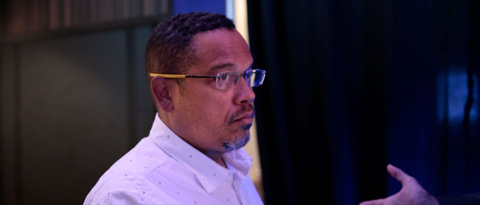 U.S. Rep. Keith Ellison (D-MN) prepares to speak at the Netroots Nation annual conference for political progressives in Atlanta