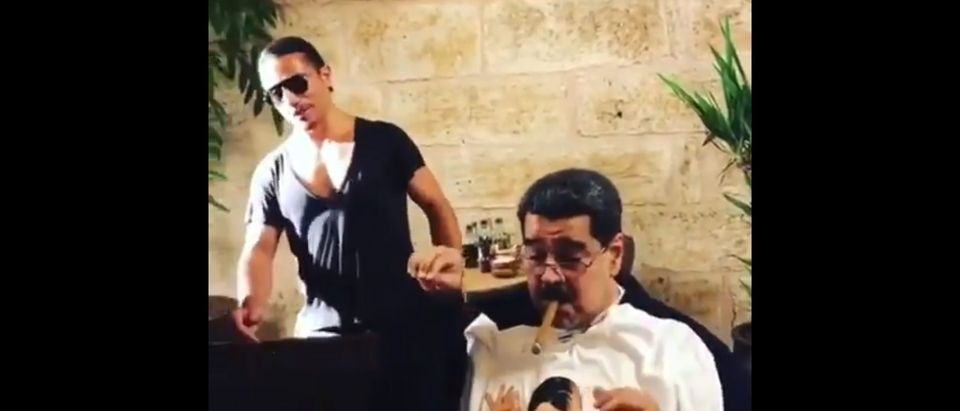 Maduro Dines At NusrSteakhouse