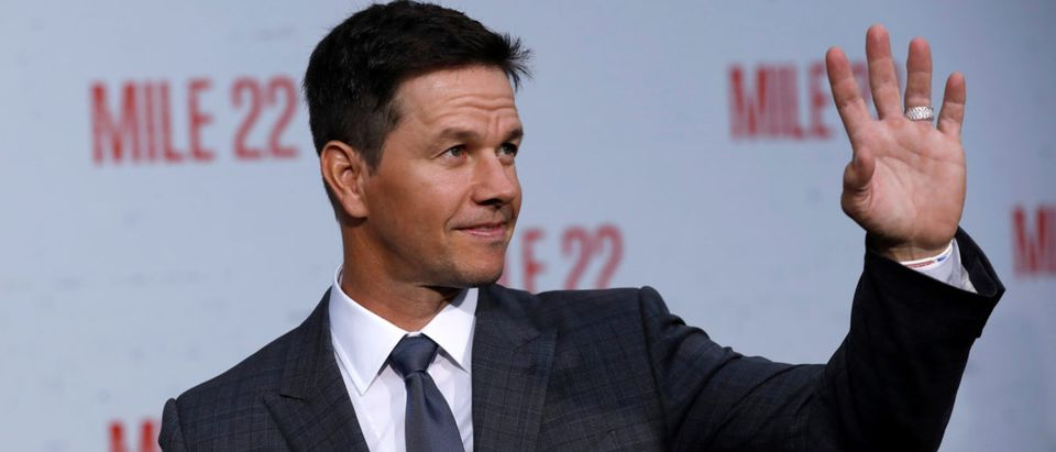 "Cast member Mark Wahlberg poses at the premiere for ""Mile 22"" in Los Angeles, August 9, 2018. REUTERS/Mario Anzuoni"