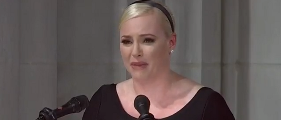 Meghan McCain eulogizes her father (screengrab)