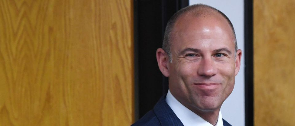 Attorney Michael Avenatti arrives at a news conference with Battle Born Progress, a progressive communications organization, on Aug. 31, 2018 in Las Vegas, Nevada. (Photo by Ethan Miller/Getty Images)
