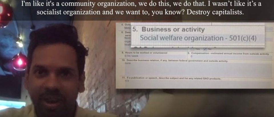 Project Veritas has released the next in a series of undercover reports which unmask the Deep State. This report features a Government Accountability Office employee and self-proclaimed Communist actively engaged in potentially illegal political activity. Natarajan Subramanian is a government auditor for the GAO and a member of the Metro DC Democratic Socialists of America.
