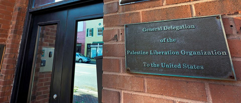The Palestine Liberation Organization office is seen in Washington