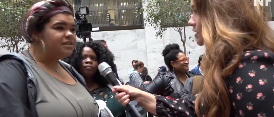 Protesters of Judge Brett Kavanaugh gathered at the Hart Senate Building. (Youtube)