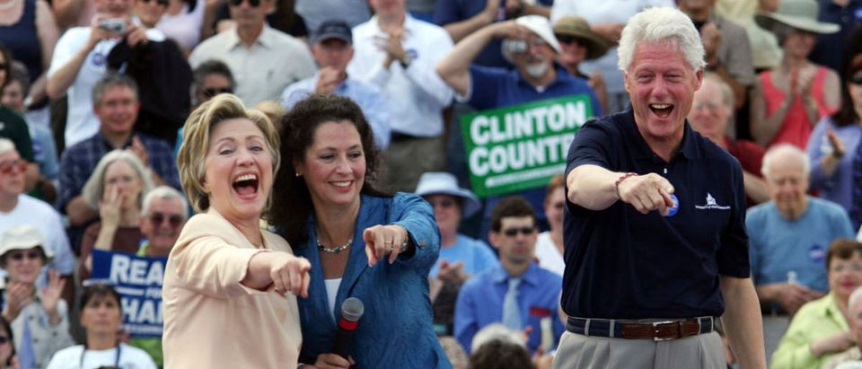 Democratic presidential candidate and U.S. Senator Hillary Clinton and her husband, former U.S. President Bill Clinton, campaign in Keene