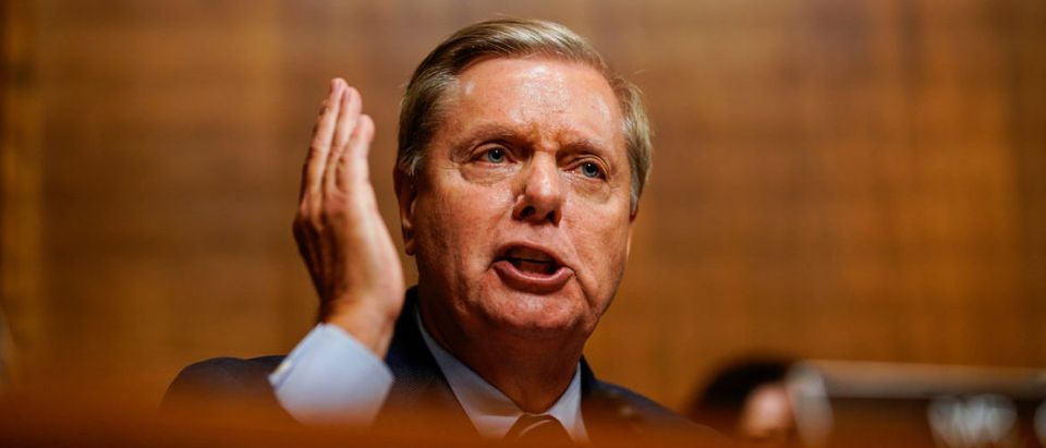 Sen. Lindsey O. Graham (R-S.C.) is pictured during a hearing with Judge Brett M. Kavanaugh with the Senate Judiciary Committee on Thursday, September 27, 2018 on Capitol Hill. Melina Mara/Pool via REUTERS