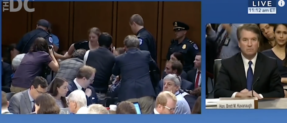 Kavanaugh's hearing is a dumpster fire (DC YouTube page)
