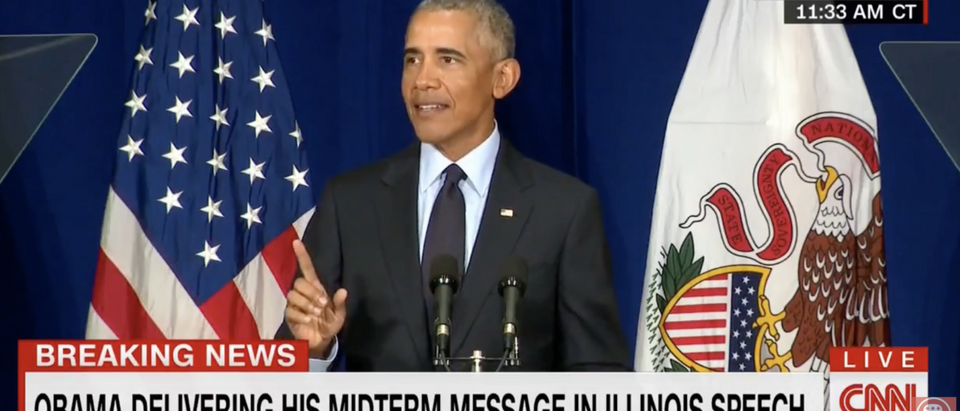 President Obama takes shots at the Republican Party during a speech (GOP War Room YouTube Page screenshot)