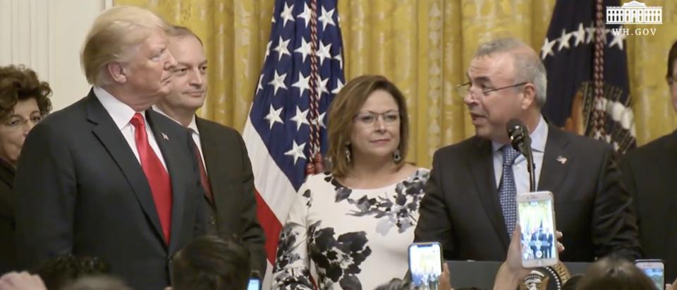 President Trump at the Hispanic Heritage Month celebration (White House YouTube screenshot)