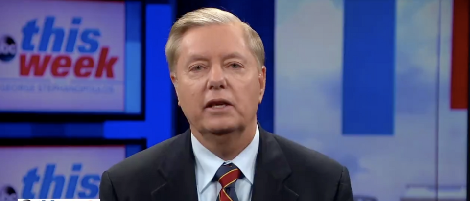 Sen. Lindsey Graham speaks to ABC News in Sept. 2018 (Screenshot)