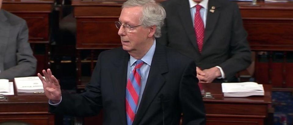 Sen. Mitch McConnell speaks on Senate floor_Screen Shot_Youtube