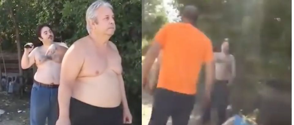 A father and son shot their neighbor to death after the threesome got in a dispute over a mattress that had been thrown out into the trash. (Shutterstock/LiveLeak Archive)