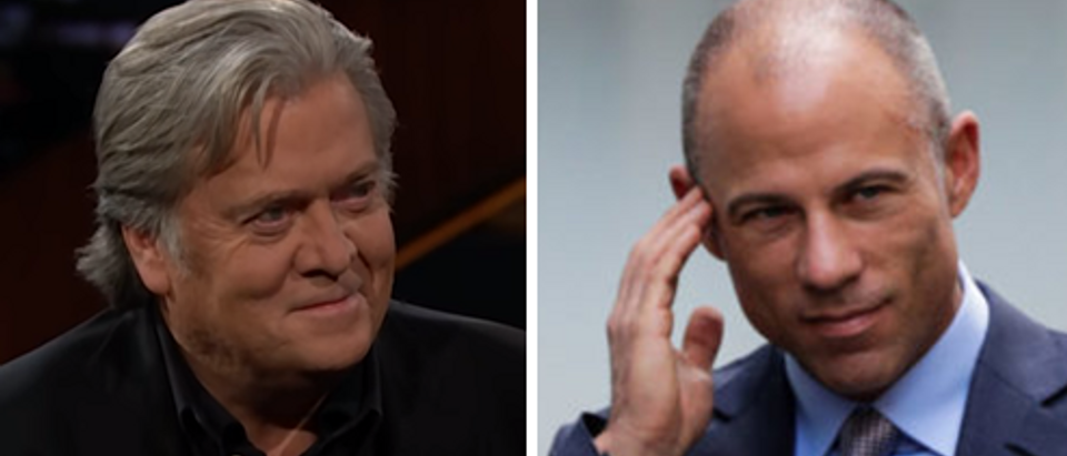 Steve Bannon (HBO screengrab) Michael Avenatti (Reuters)
