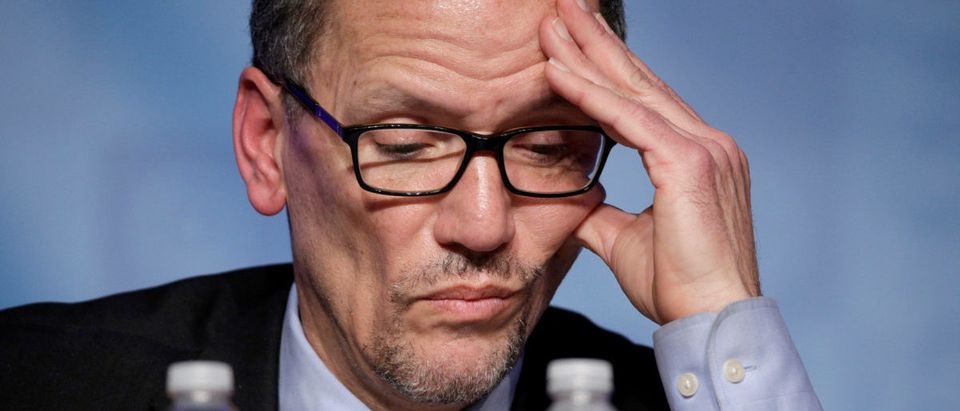DNC Chair Tom Perez made Rep. Keith Ellison the DNC deputy chair. Photo: REUTERS/Joshua Roberts