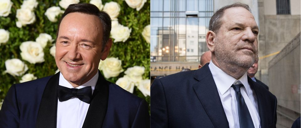 Kevin Spacey and Harvey Weinstein/ Getty Images