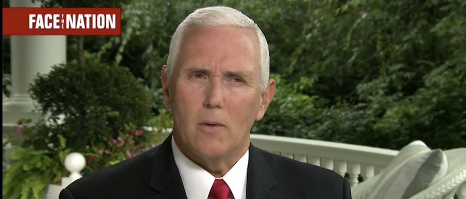 Vice President Mike Pence on Face the Nation in September 2018. (Screenshot/Face the Nation)
