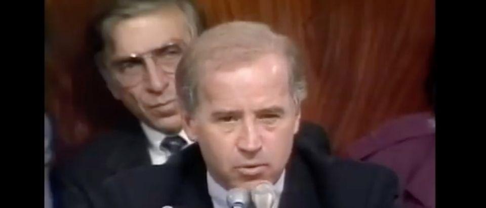 Biden 1991 / C-SPAN VIDEO SCREEN SHOT