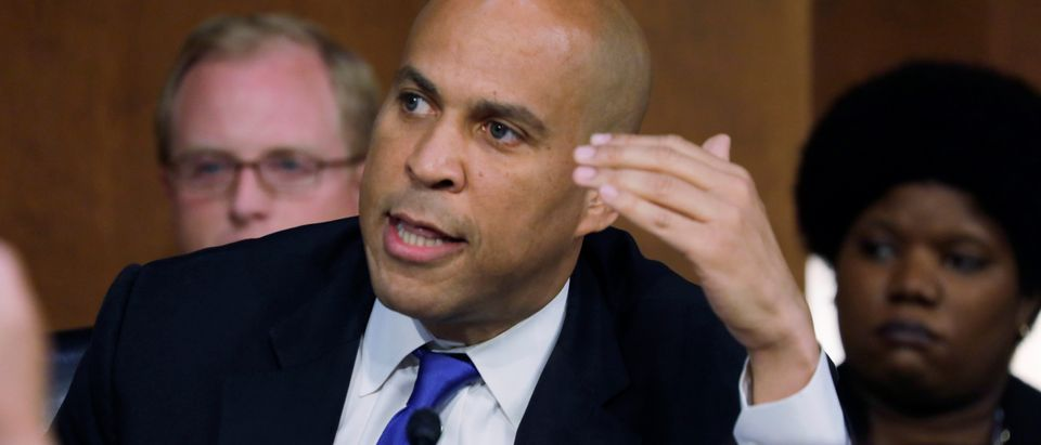 U.S. Senator Booker objects to start of Supreme Court nominee Judge Kavanaugh's confirmation hearing in Washington