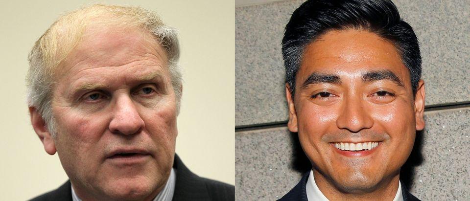Republican Ohio Rep. Steve Chabot (L) faces Democratic challenger Aftab Pureval (R) this November. Paul Morigi and Alex Wong via Getty Images