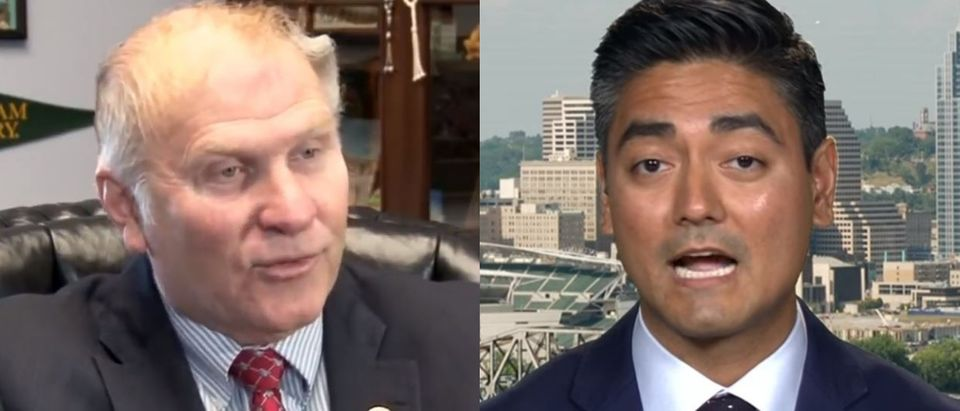 Republican Ohio Rep. Steve Chabot will face Democratic challenger Aftab Pureval this November. YouTube screenshot/VOA News (L) YouTube screenshot/Bloomberg Politics (R)