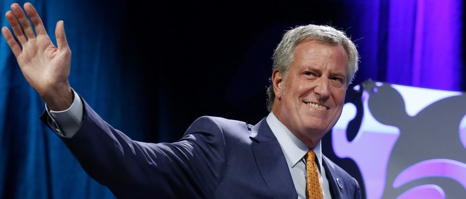 New York Mayor Bill De Blasio speaks at the Netroots Nation annual conference for political progressives in New Orleans