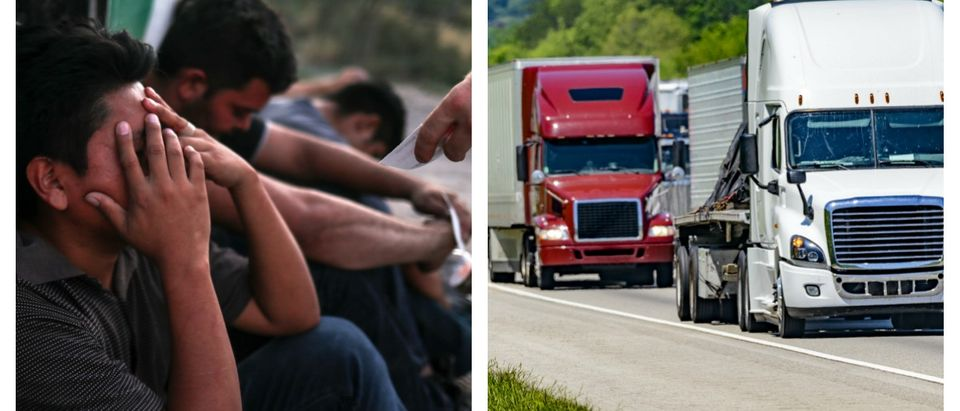 Border Patrol found 55 illegal immigrants in a hot, stuffy tractor trailer.