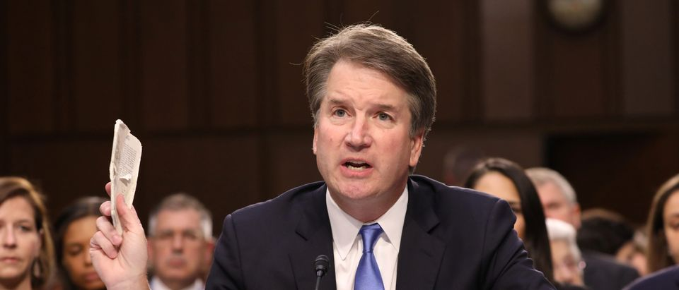 U.S. Supreme Court nominee judge Brett Kavanaugh testifies during his Senate Judiciary Committee confirmation hearing on Capitol Hill in Washington, U.S., September 5, 2018. REUTERS/Chris Wattie