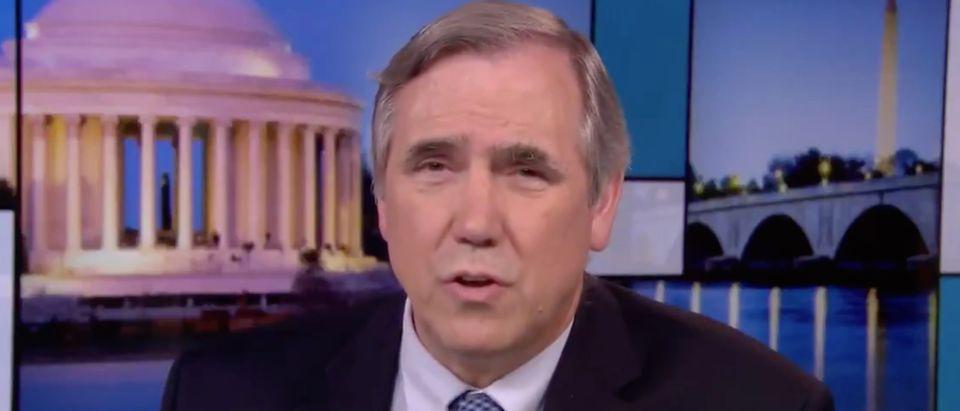 Sen. Jeff Merkley appears on MSNBC./Screenshot