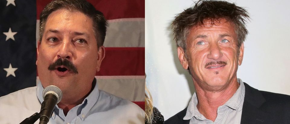 The campaign of Randy Bryce (L) wanted to host a fundraiser at the home of actor Sean Penn (R). Images via Scott Olson/Getty Images and Rachel Murray/Getty Images for Hulu