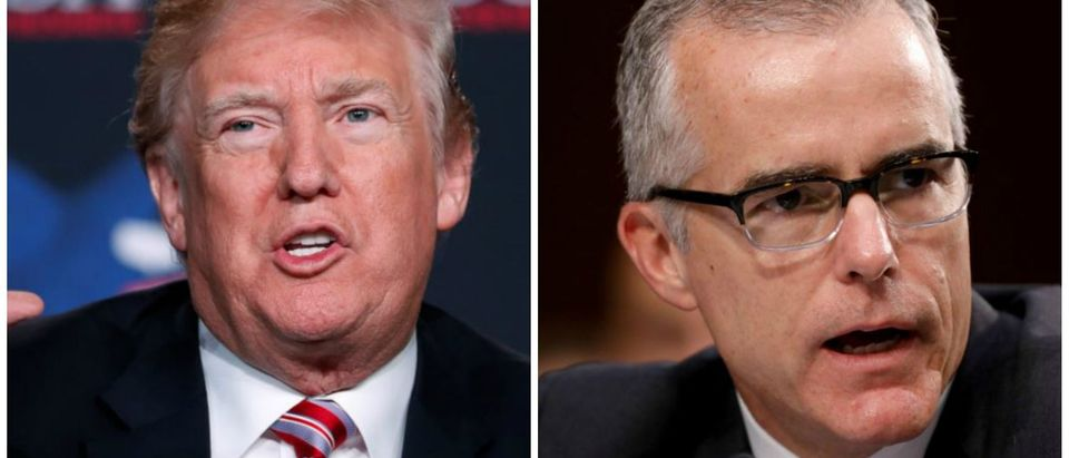 Collage of President Trump and Andrew McCabe (Reuters)