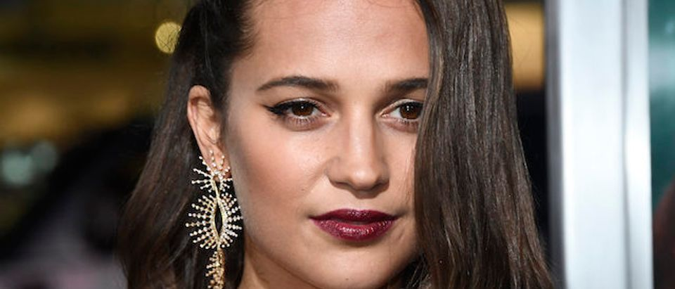 Alicia Vikander at TCL Chinese Theatre on March 12, 2018 in Hollywood, California. (Photo: Getty Images)