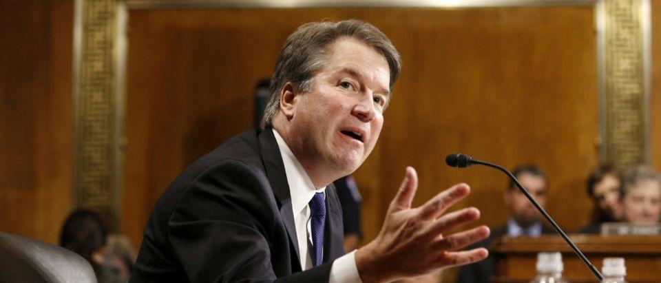 Supreme court nominee Brett Kavanaugh testifies before the Senate Judiciary Committee on Capitol Hill in Washington