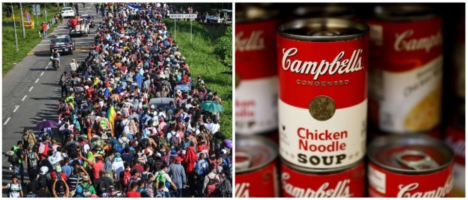 Caravan and Campbell's Soup (LEFT: PEDRO PARDO/AFP/Getty Images RIGHT: Justin Sullivan/Getty Images)