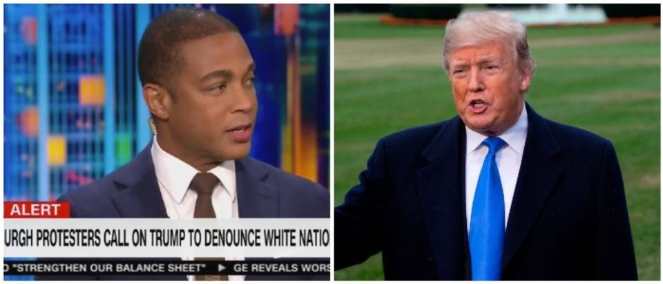 Don Lemon and President Trump (LEFT: CNN Screenshot 10/30/2018 RIGHT: ALEX EDELMAN/AFP/Getty Images)