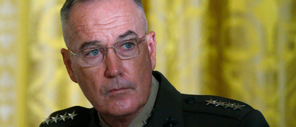 U.S. Joint Chiefs Chairman Dunford attends meeting of the National Space Council at the White House in Washington
