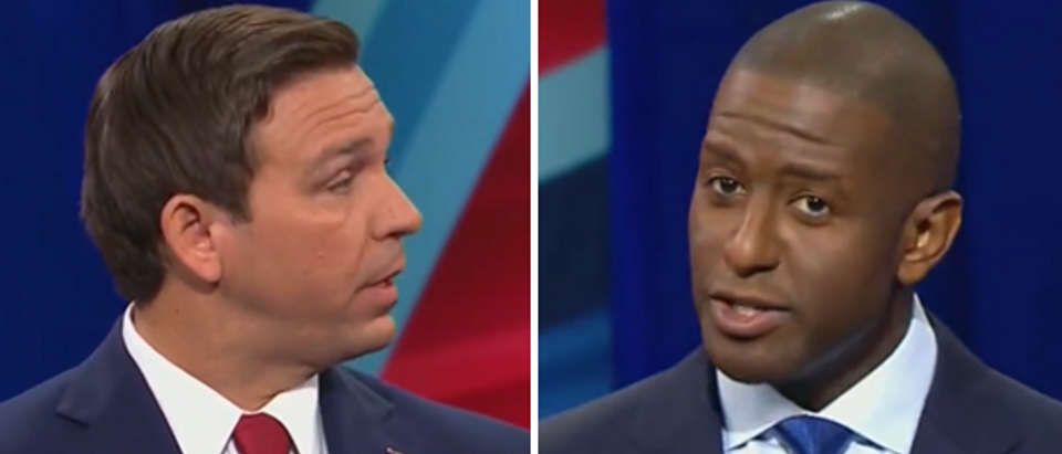 Florida gubernatorial debate Andrew Gillum vs Ron DeSantis (CNN screengrabs)